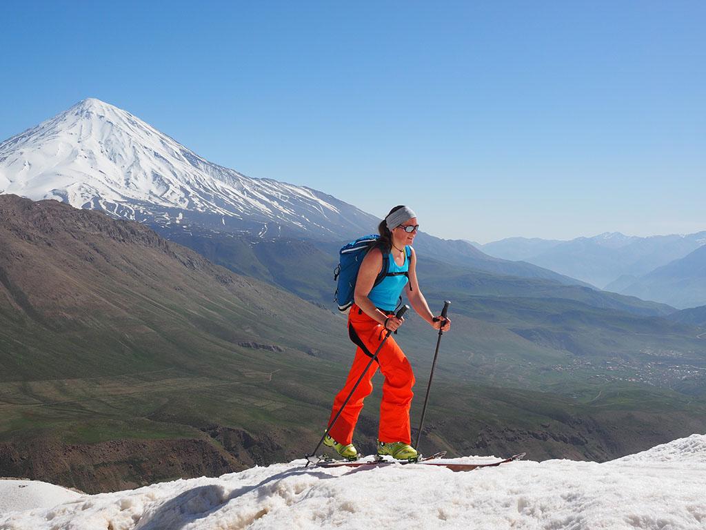 Damavand scene from Golezard summit (Doberar ridge)