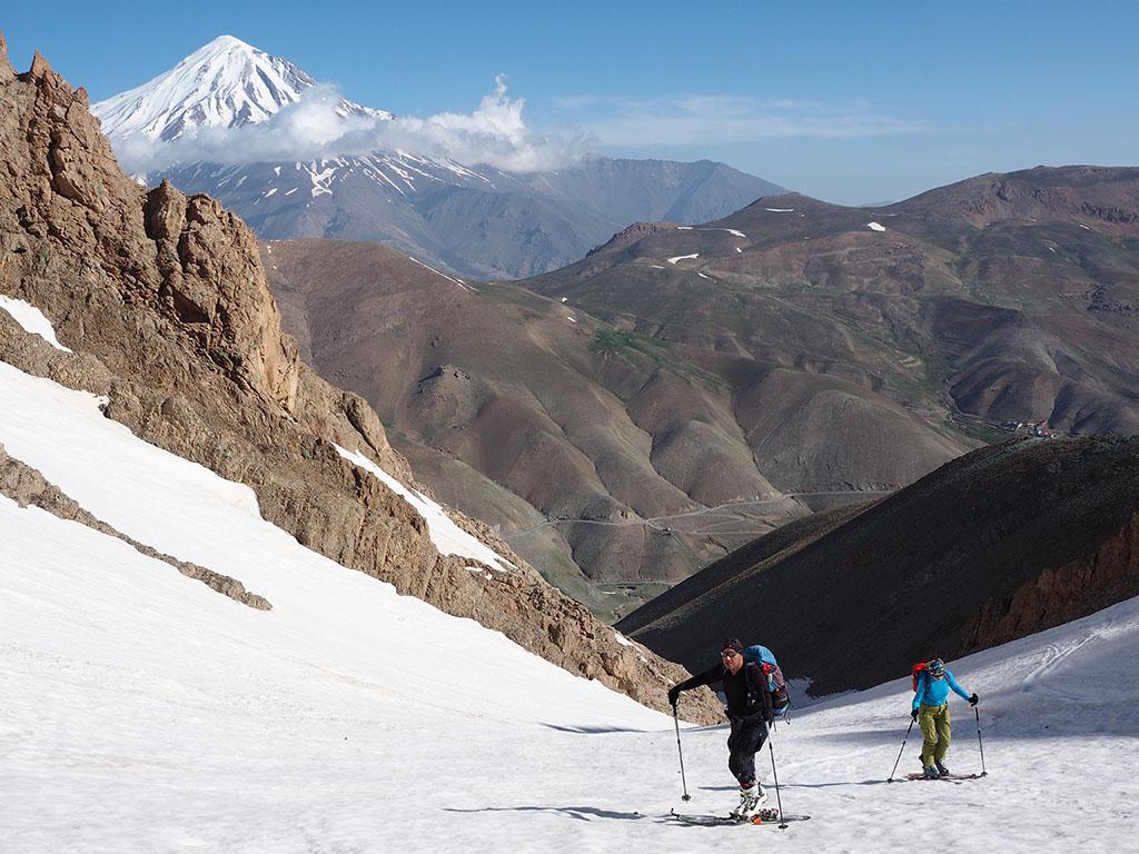 Damavand scene from Doberar ridge