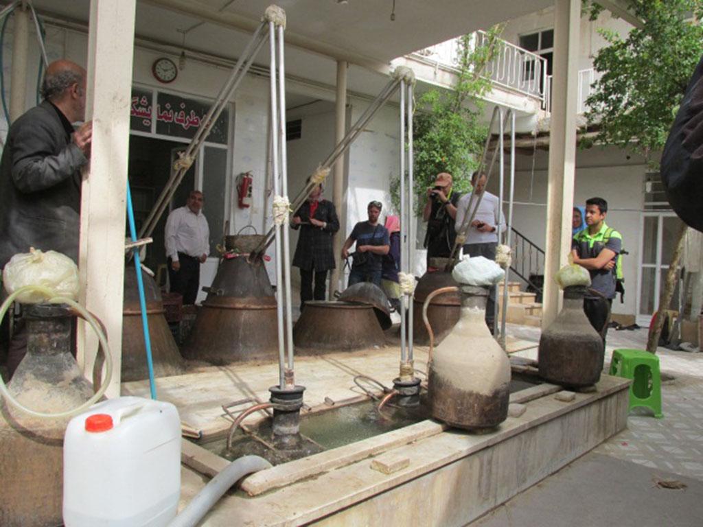 Rose water festival, Household Workshop, Kashan, Niasar