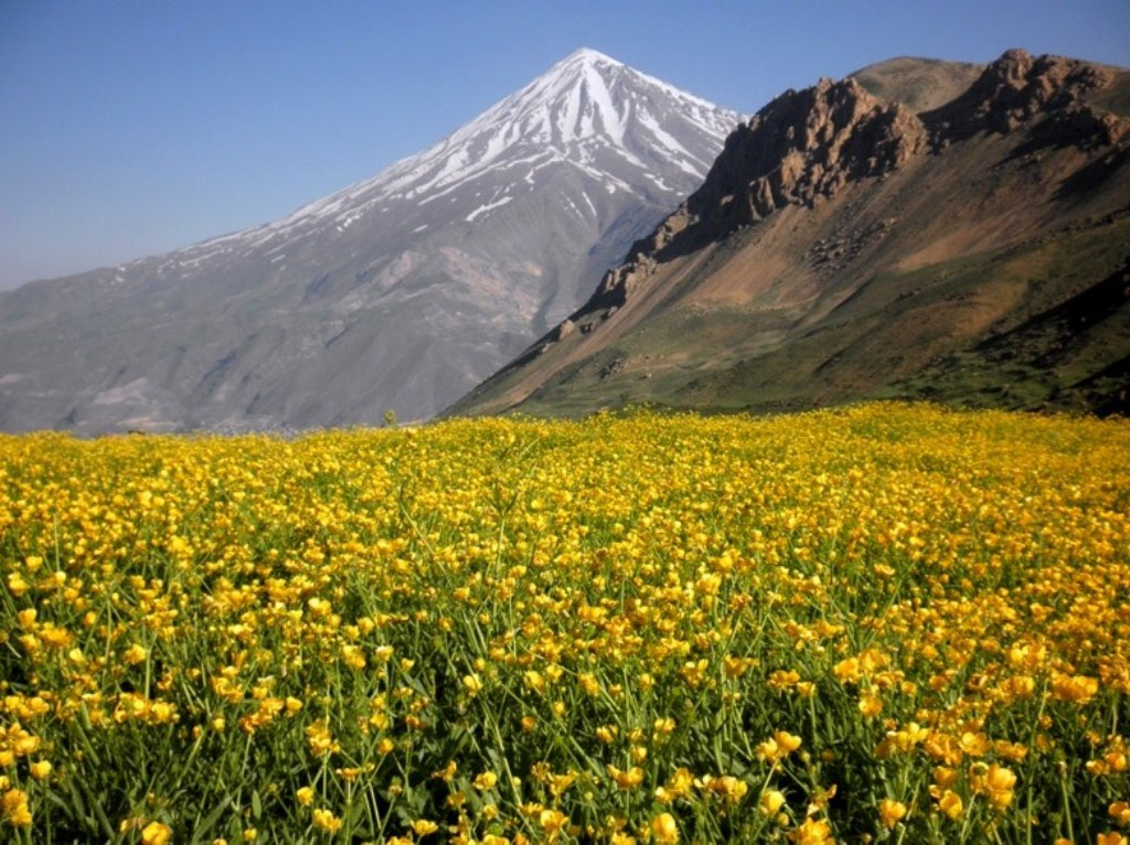 Damavand scene from Lar National Park