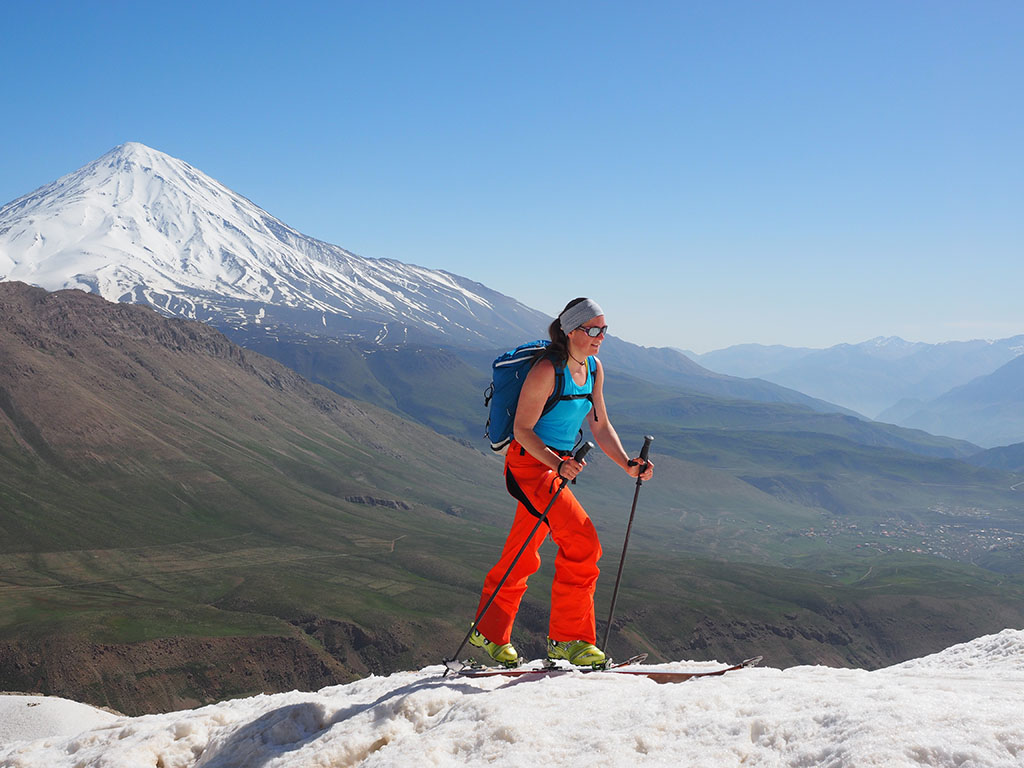 Damavand scene from Golezard summit (Doberar ridge)