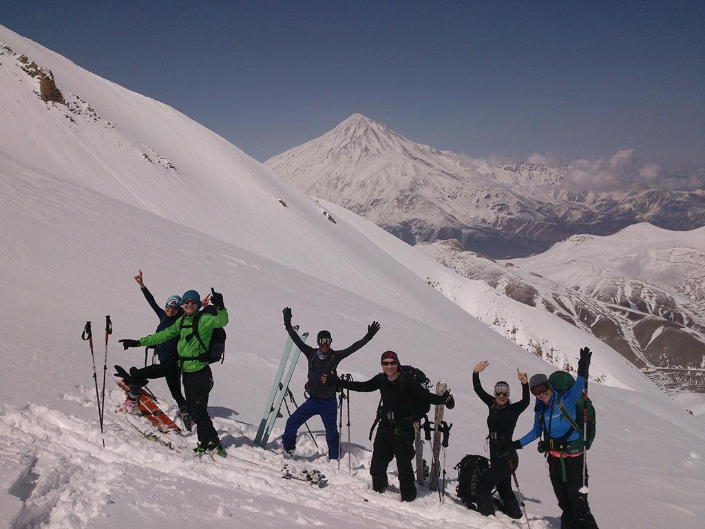 Damavand scene from Doberar ridge (on the way of Angemar summit)