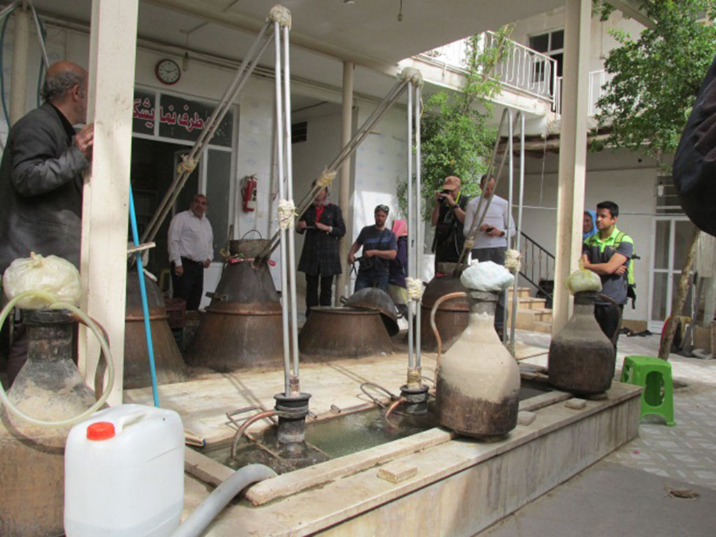 Rose water festival, Household Workshop, Kashan, Niasar