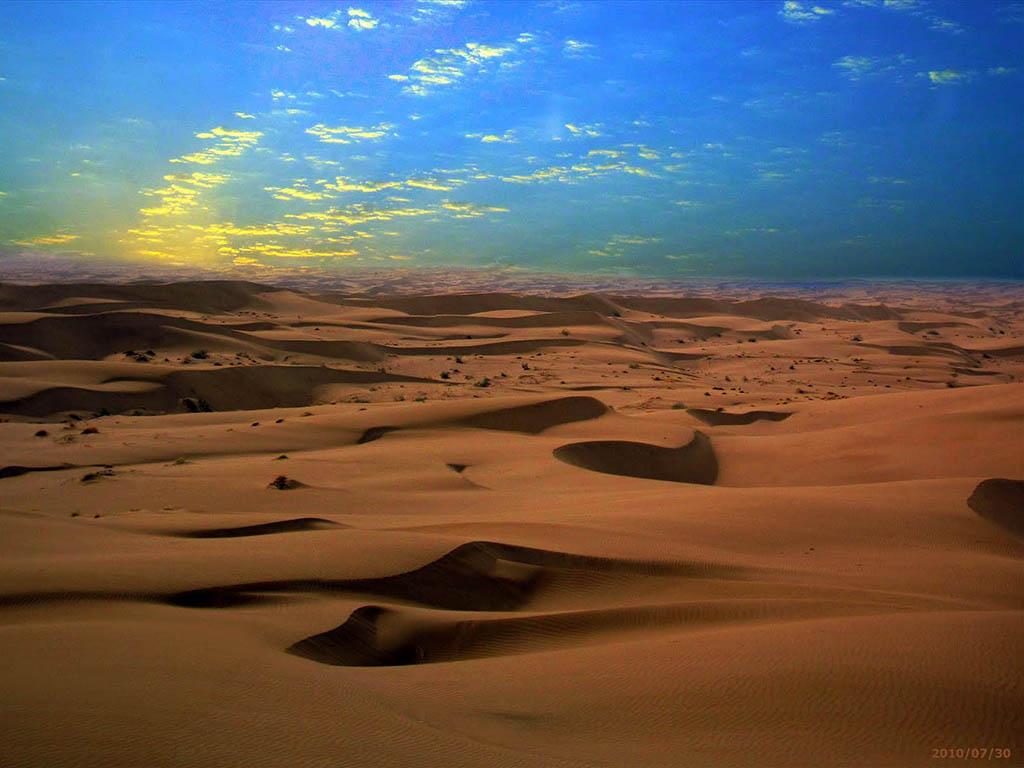 Maranjab Desert, Sunset