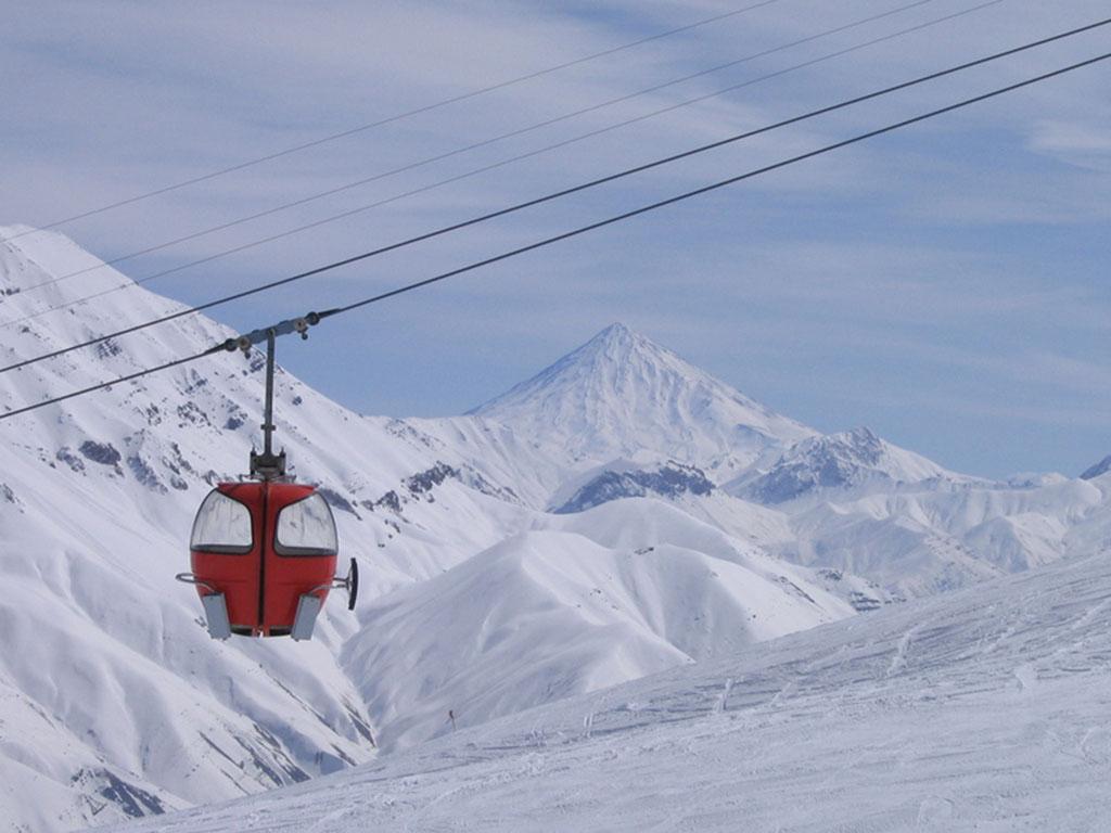 Damavand Scene from Dizin ski resort