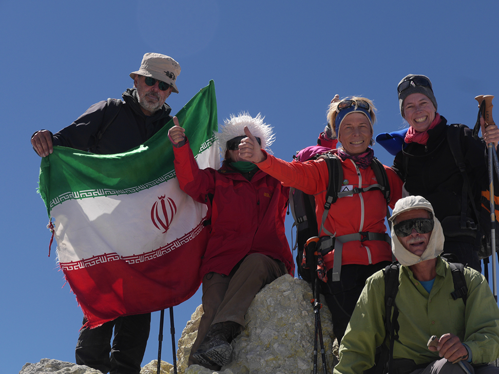 Damavand summit, top of Iran & Middle East, 5671 m