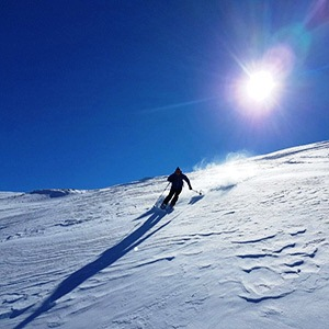 Dizin Ski Resort, Skiing from Sandoghchal summit (3560 m)