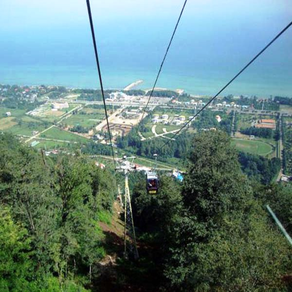Ramsar Cable-Cabin, from -25 to 700 m above sea level