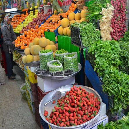 Fresh fruits and vegetebales in Tajrish