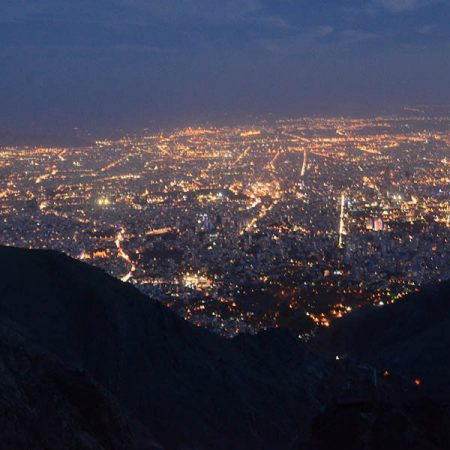 Amazing view of Tehran from Shirpala