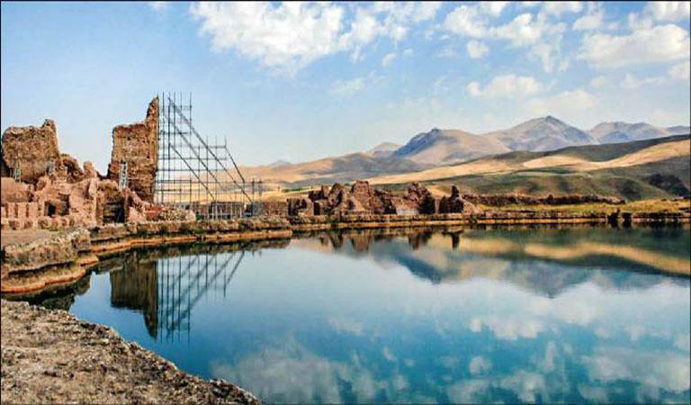 Takht-e-Soleyman or Azargashb Fire Temple - UNESCO World Heritage in Iran