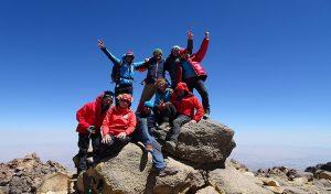 Trekking Iran Tours- German Group on Mount Sabalan Summit