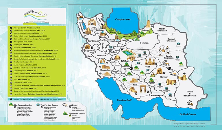 Iran Travel Guide Book-Iran Cultural Tours- Iran Heritage Map