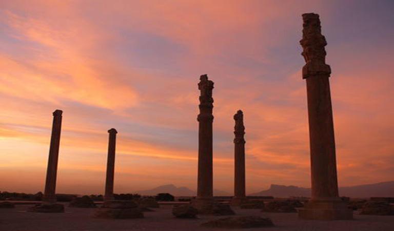 Iran Travel Guide Book - Iran Cultural Tours - Sunset of Persepolis in Shiraz
