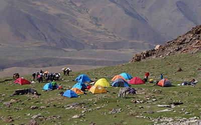 Chaman Bon Camp at Damavand Northeast Tour 4100 m