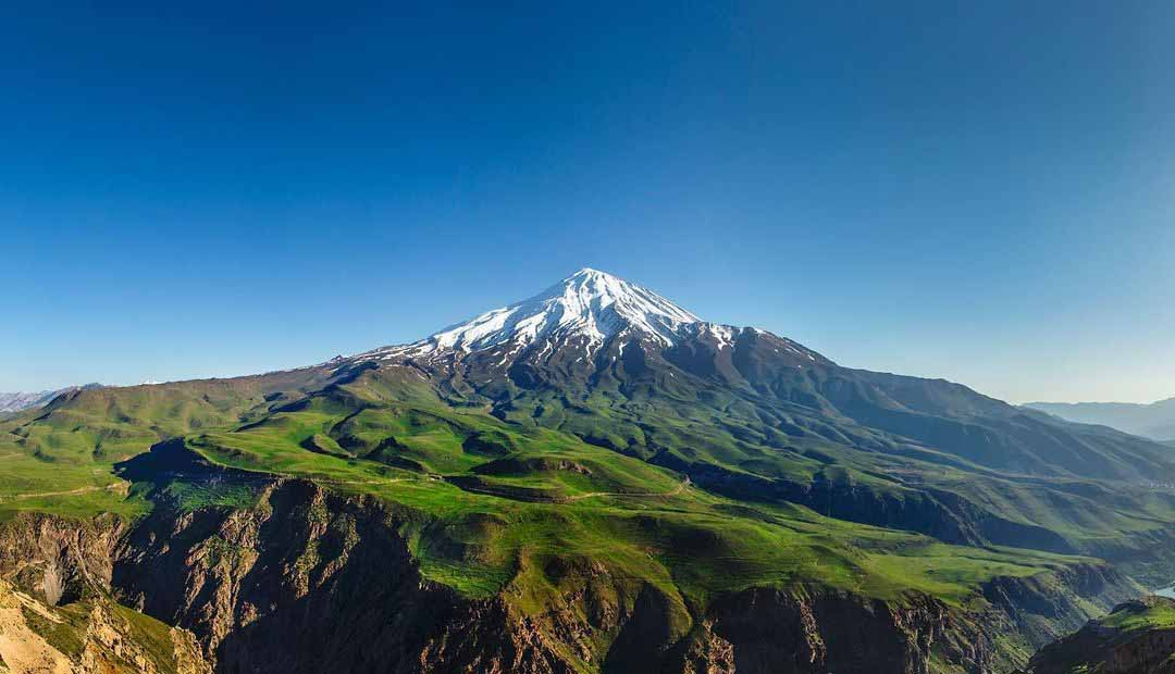 Great view of Mount Damavand North East side
