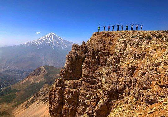 Hiking Damavand-view from Gol-e-Zard summit